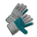 Select Split Cowhide Leather Double Palm Gloves (Men's Plasticized Safety Cuff)