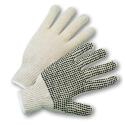 PVC Dotted String Knit Gloves (Large, Dotted One Side)