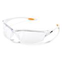 Law 2 Safety Glasses (Clear W/ Orange Inserts)